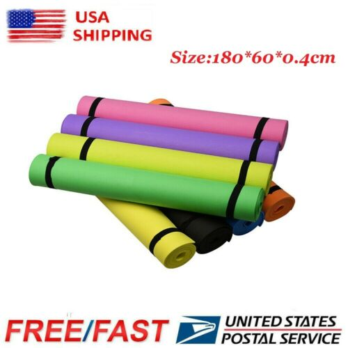 US Stock Yoga Mat EVA Non-Slip Fitness Pad Workout Gym Pilat