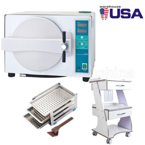 US Dental 18L Autoclave Medical Automatical Steam Sterilizer / Trolley Tool Cart