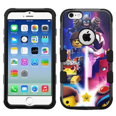 "for Apple iPhone 6/6s (4.7"") Hard Rugged Hybrid Phone Case Lego Movie #CR"