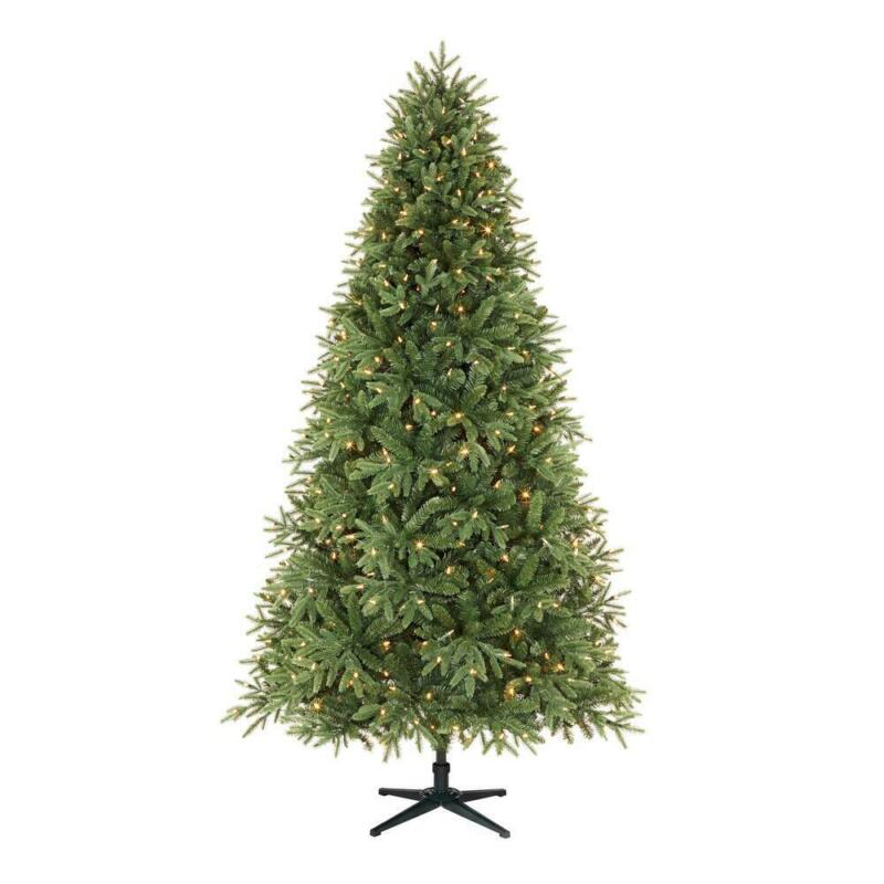 Home Accents Holiday 7.5 ft. Ellis Black Spruce LED Pre-Lit Tree with 500 Color