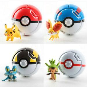 Pokemon Bounce 4 Pokeball 4 Action Figures Random Set Kid Toy Children Game Gift