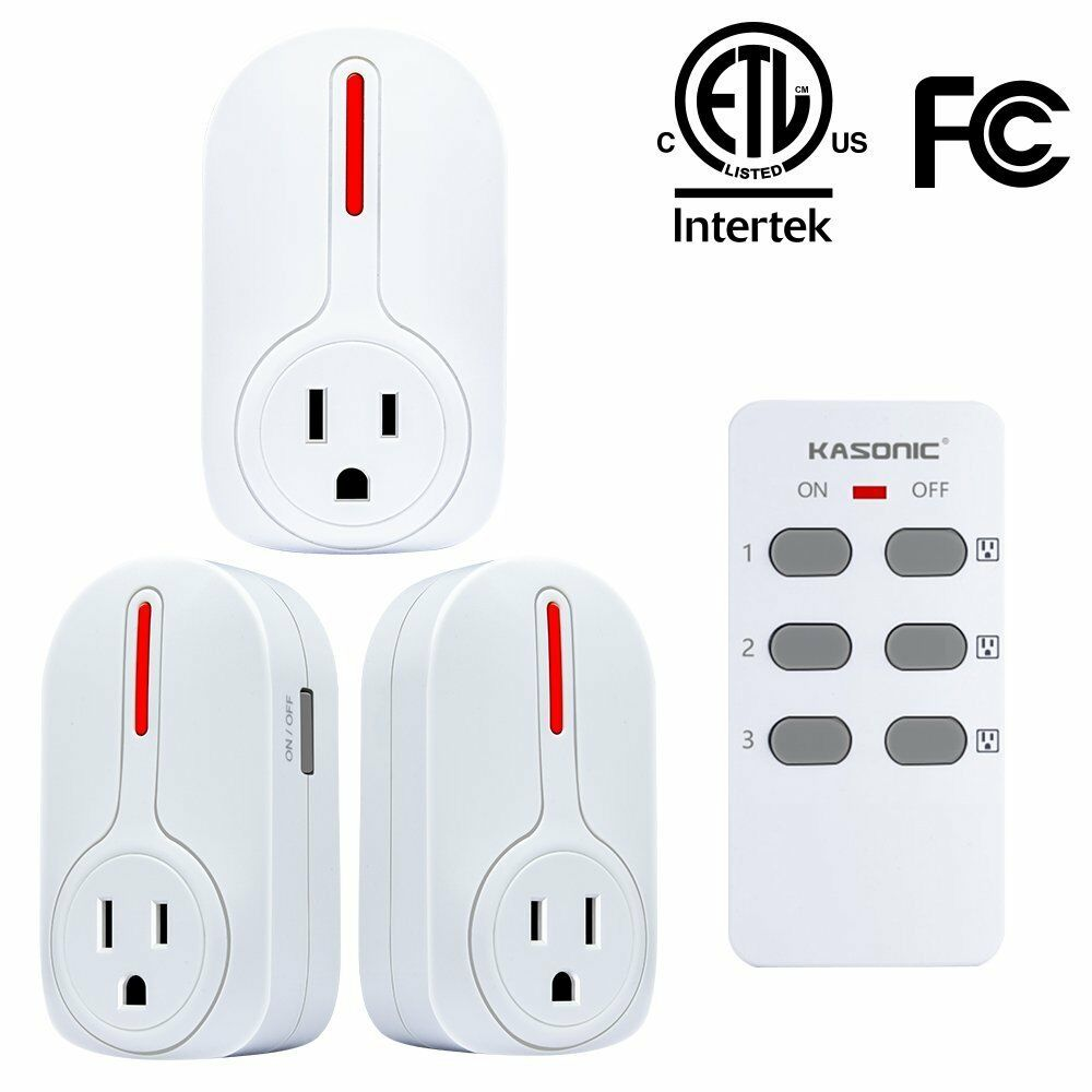 Kasonic Smart Home Remote Control Outlet Multi-Purpose Combo Set for Household