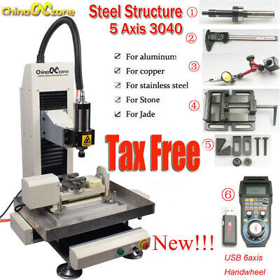Newest Cnc 5axis 2.2kw 3040 Steel Metal Router Engraving Millingcutting Machine