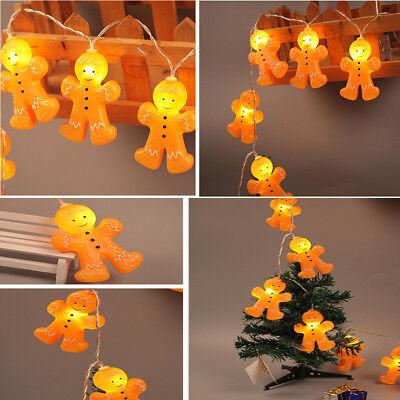 Gingerbread Men LED String Fairy Night Lights Christmas Xmas Home Party Decor Gingerbread Men Decor
