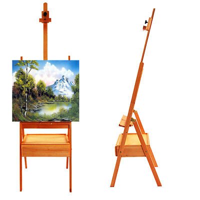 (French Easel Art Wooden Sketch Box Portable Artist Painters Tripod Stand Display)