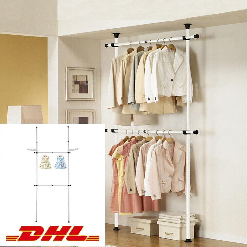 Teleskop Garderobe Kleiderstange Regal Hosenhalter Kleiderschrank