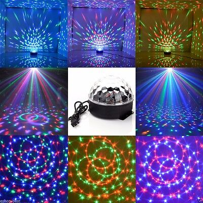 Club DJ Disco KTV Party RGB Crystal LED Ball Projector Stage Effect Light