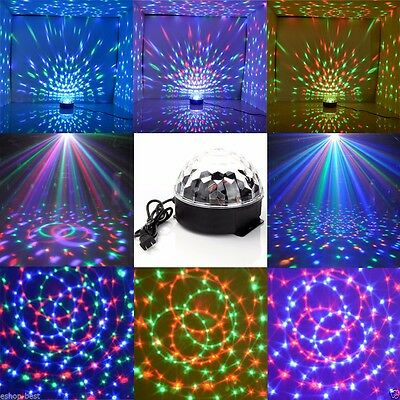 Club DJ Disco KTV Party RGB Crystal LED Ball Projector Stage Effect Light (Disco Ball Light)