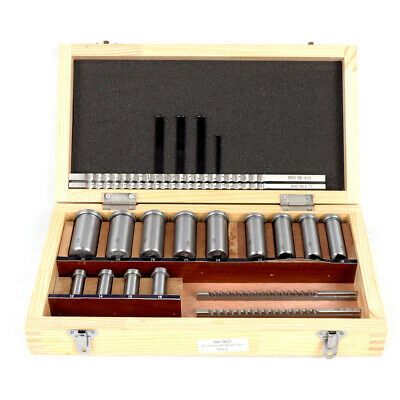22pc Keyway Broach Kit Metric Size Ferrule Bushing Gasket Set Metal Process Tool