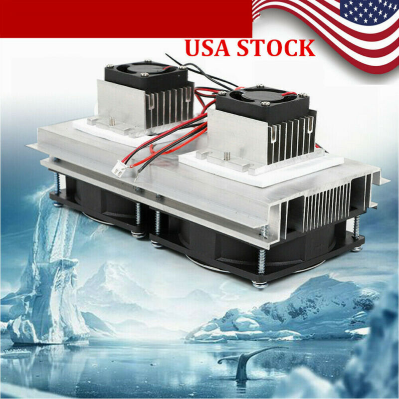 12V 140W Peltier Cooler Semiconductor Refrigeration Cooling Fan DIY Dehumidifier