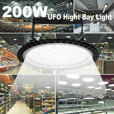 200w Ufo Led High Bay Light Warehouse Industrial Light Fixture 20000lm Us