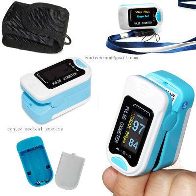 100 Warranty Finger Fingertip Spo2 Pulse Oximeter Oled Heart Rate Monitorpouch