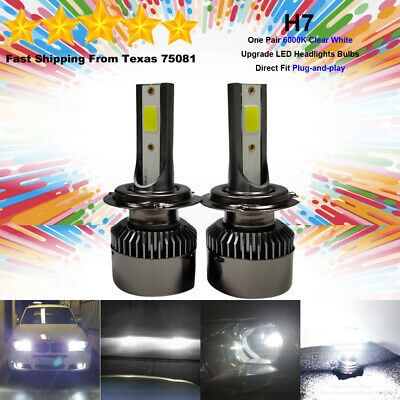 H7 LED Headlight Bulbs Conversion Kit High Low Beam Ultra Bright 55W 6000K White