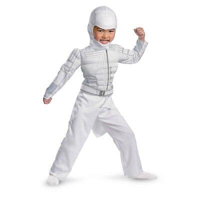 Kleinkind Jungen Gi Joe Retaliation Dlx Muskel Weiß Sturm Schatten Ninja - Kleinkind Ninja Muskel Kostüm