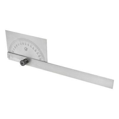 180 Degree Square Head Depth Gage Protractor Stainless Steel With 8 Inch Blade