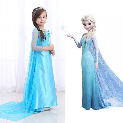 Elsa Princess Dress Girls Snow Queen Dress Costume Party Cosplay Outfit 3-10Y](Elsa Dress Girls)