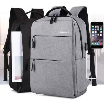Zaino Zainetto Uomo USB porta PC Viaggio per Notebook Portatile Scuola 16 Laptop