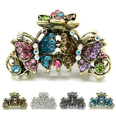 Elegant metal hair claw jaw rhinestones crystal butterfly clip hair accessories  - Elegant Butterfly Rhinestones