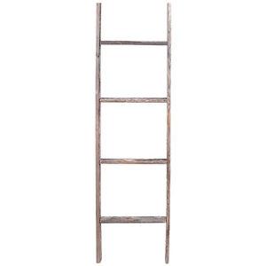 4' Reclaimed Rustic Barn Wood Ladder