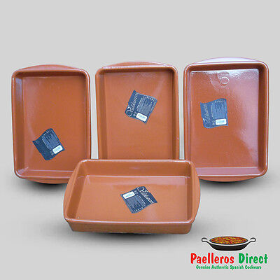 Set of 4 Spanish Terracotta Lasagne Dishes - 32cm x 23cm