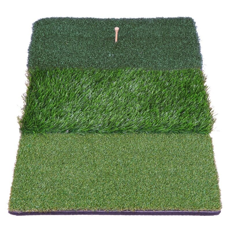 "25"" x 16"" XL Tri-Turf Commercial Golf Practice Mat Driving Range Chipping Grass"