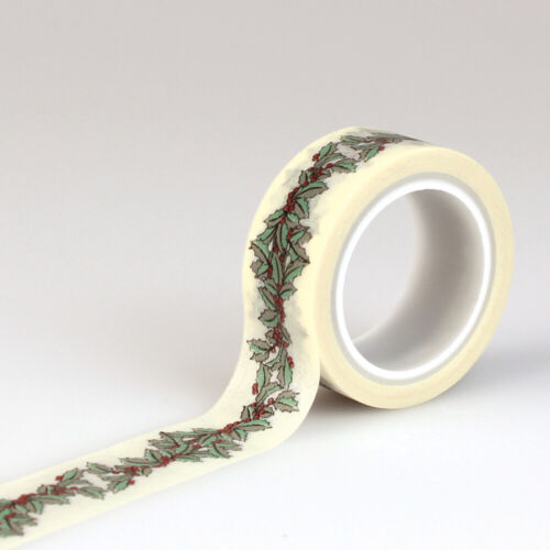 Holiday Christmas  Holly Berry Washi Tape Planner Supply DIY Craft Scrapbook