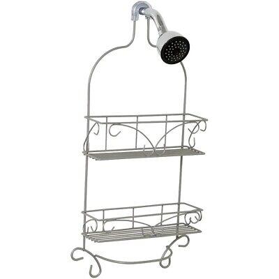 Zenna Home 7566NN Satin Nickel Shower Caddy Nickel Satin Shower Caddy
