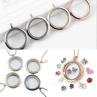 Glas Runder Anhänger (Erinnerung Medaillon-Anhänger-Halskette Schwimmdock Schmuck Runde Glas)