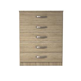 Beatrice 5 drawer chest oak