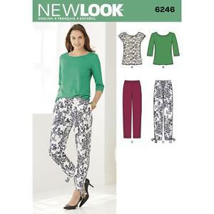NEW LOOK Sewing Pattern Misses Ladies Womens Plus Trousers+Top Sz 8-18 ~ 6246