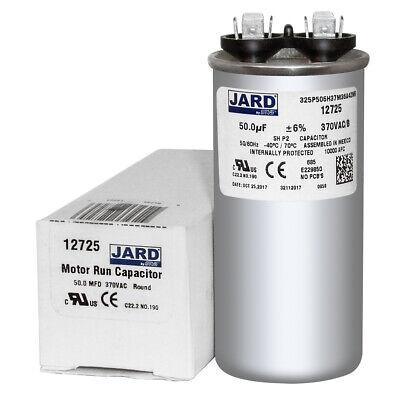 50+7.5 uF MFD 370 440 VAC Round Motor Dual Run Capacitor 50//60Hz CBB65-440R07E50