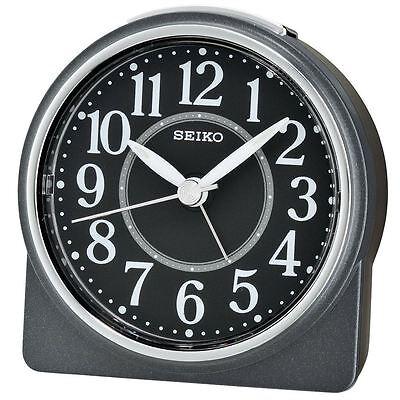 Seiko Beep Alarm Clock with Snooze & Light - Lumibrite - Black