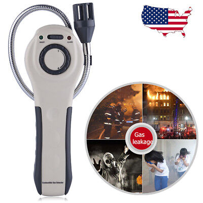 Combustible Gas Leak Detector Tester Natural Gas Methane Propane Security Alarm