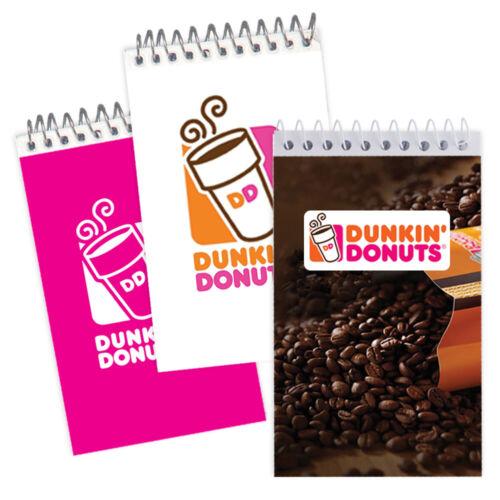 200 Custom Full Color Imprint Spiral Flip Notepads, Your Logo, Company Info