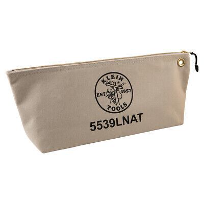 Klein Tools 5539LNAT Canvas Bag with Zipper, Large Natural Klein Tools Canvas Zipper Bag