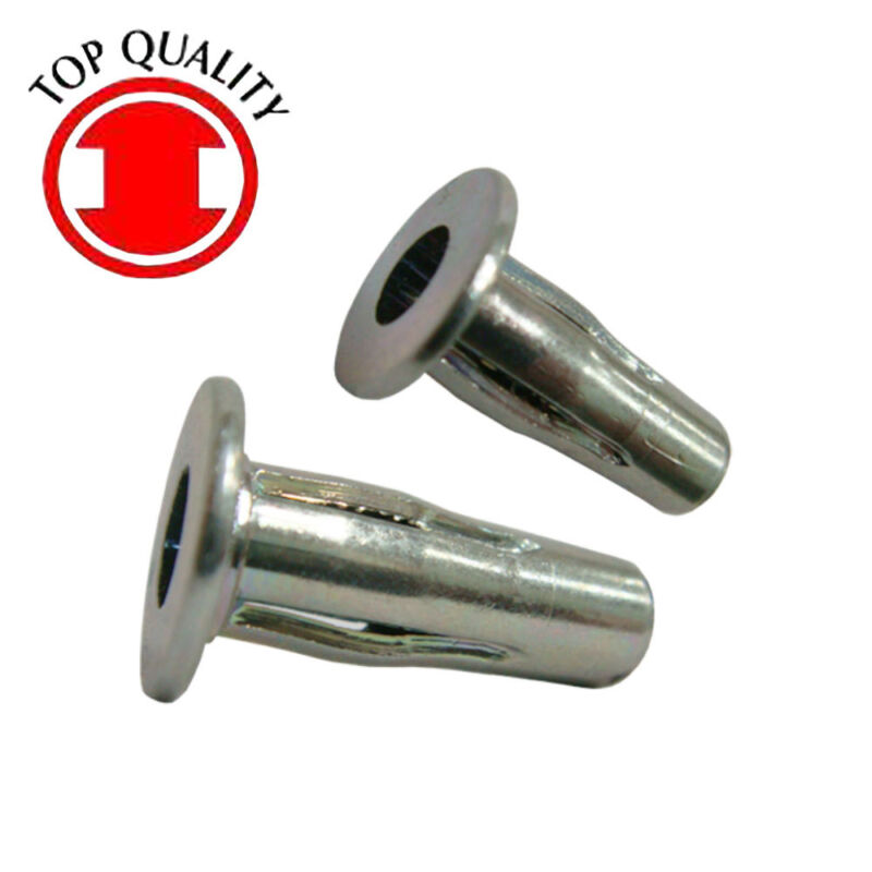 Steel Plusnut Pre-bulbed 0.625x0.384x1.03 - 1/4-20 Yellow Zinc - 10pcs