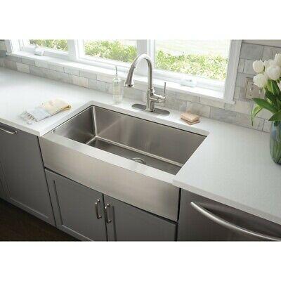 10 Single Bowl Farmhouse - 16G Farmhouse Single Bowl Stainless Steel Kitchen Farm Sink Apron Front 10