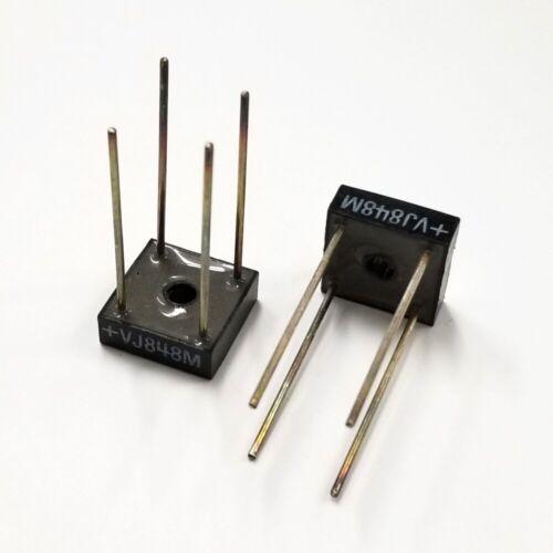 Lot of 2 Microsemi VJ848M 10 Amp 800 Volt Full Wave Bridge Rectifiers 10A 800V