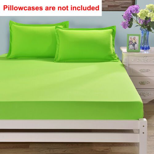 Queen Cotton Bed Fitted Sheets Set Comfort Bedding Cover Bedclothes Full King