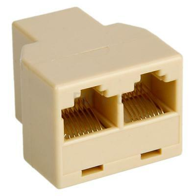 RJ45 1x2 Ethernet Connector Splitter 1 to 2 sockets Internet Cable Cat 5 6 Nice
