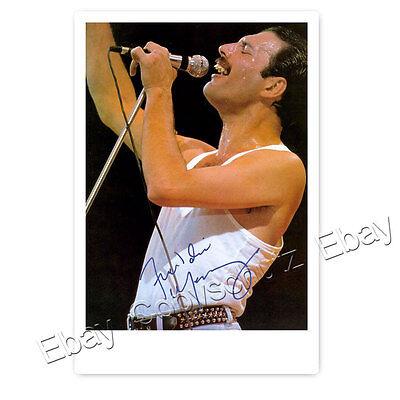 Freddie Mercury -  Autogrammfotokarte laminiert [AK2]