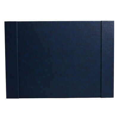 Staples Desk Pad Faux Leather Blue 2741555