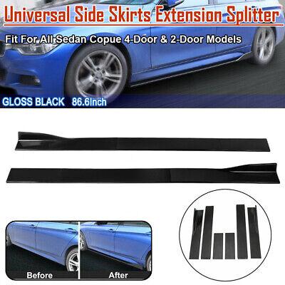 """86.6"""" Universal Car Side Skirt Extension Rocker Panel Splitter Lip For Toyota SU"""