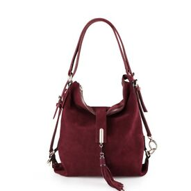 Suede Leather Handbag Shoulder Bag