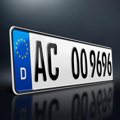 1 Kfz Kennzeichen | 520 x 110 | Nummernschild | Autokennzeichen | Fahrradträger - - Zeichen
