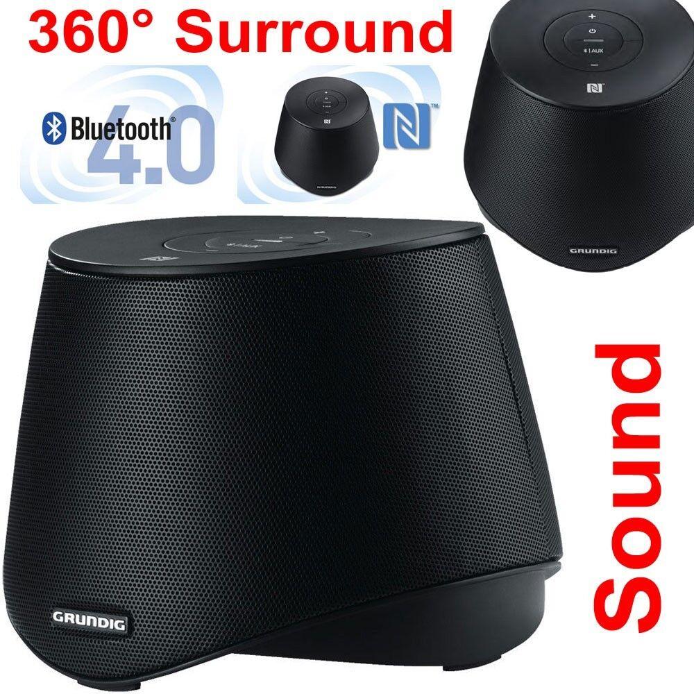 Grundig GSB 2000 Bluetooth 4 NFC Surround Lautsprecher tragbar Speaker Subwoofer