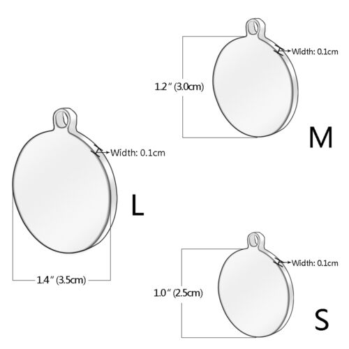 Round Stainless Steel Engraved Dog Tags Personalised Pet