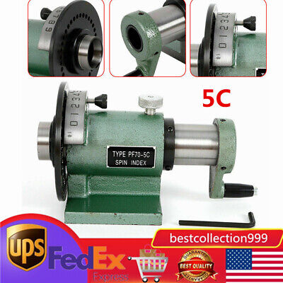 5c Precision Spin Index Fixture Collet 0.0008 For Milling Grinding New