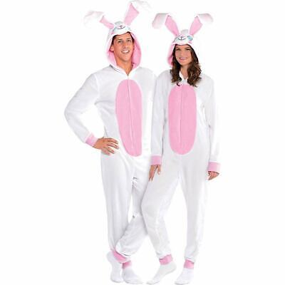 Amscan Easter Bunny One Piece Pajamas for Adults, Fleece, Large/Extra Large, - Pajamas For Adults