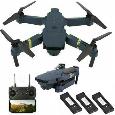 Drone X Pro Foldable Quadcopter WIFI FPV 720P Wide-Angle HD Camera 3* Batteries